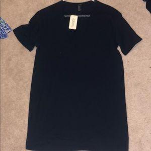 Black mesh T-shirt dress